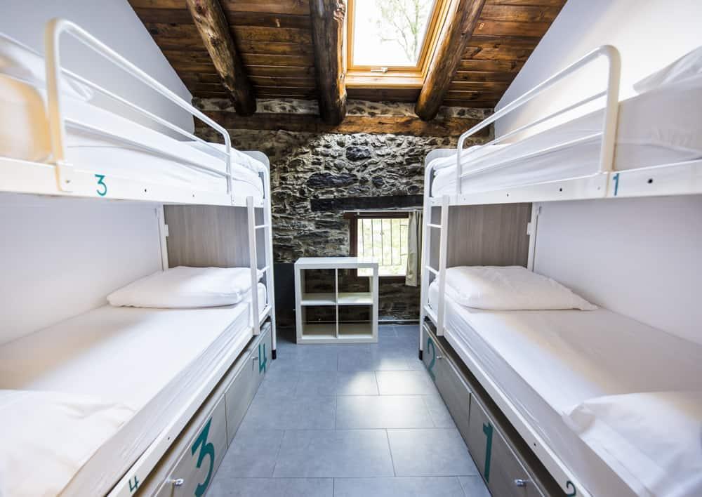 Habitaciones compartidas en Mountain Hostel Tarter