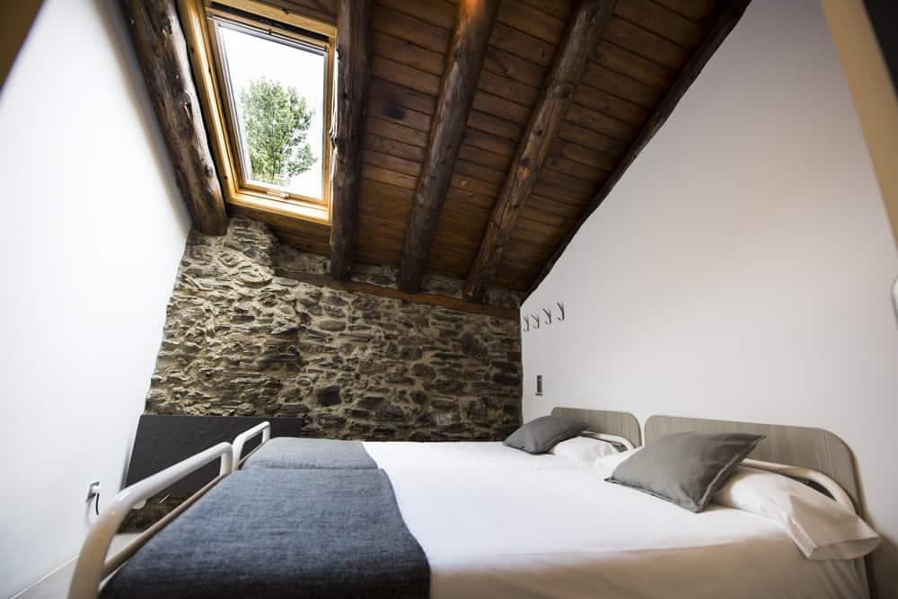 Habitación doble privada en Mountain Hostel Tarter
