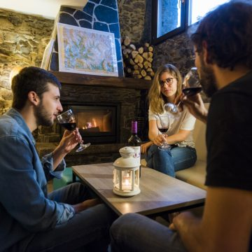 Mountain hostel tarter andorra fireplace-63