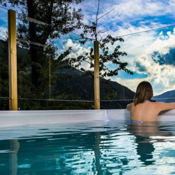 Mountain hostel tarter andorra outdoor pool jacuzzi swim spa-51