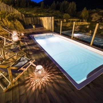 Mountain hostel tarter andorra outdoor pool jacuzzi swim spa night-68