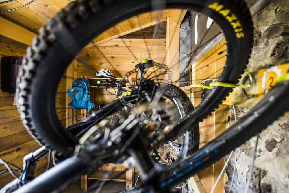 Servicios para ciclistas en Mountain Hostel Tarter