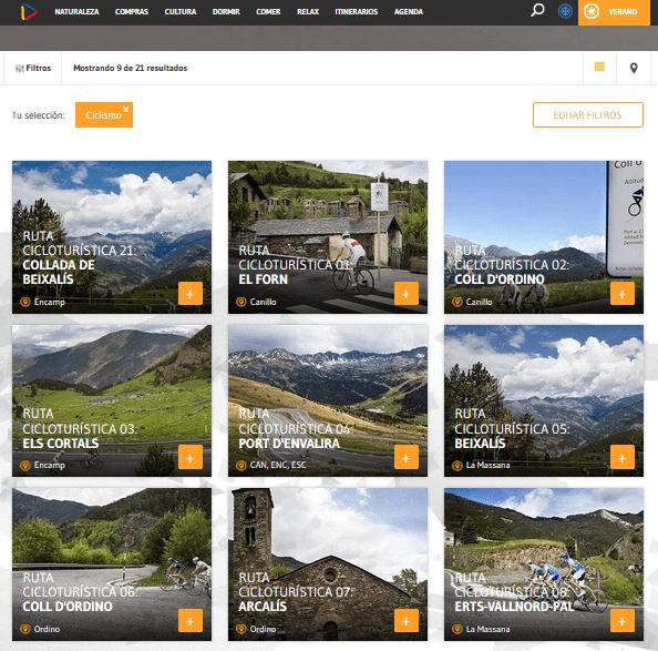 Rutas de ciclismo en Andorra